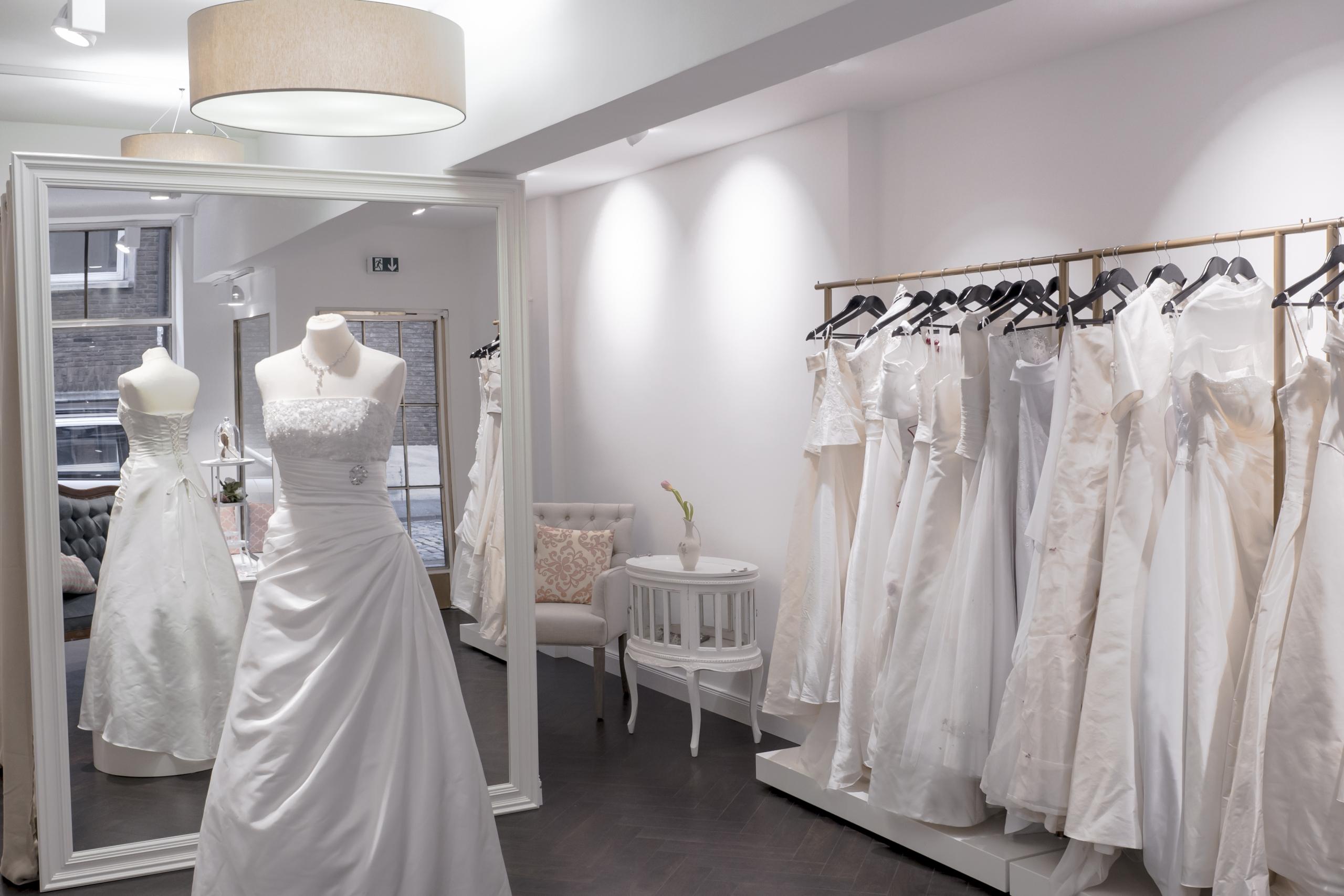Shopdesign für Brautmode