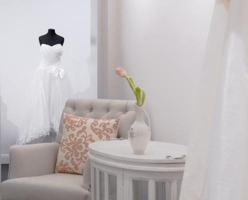 Brautmode Shop Detail Innenausbau
