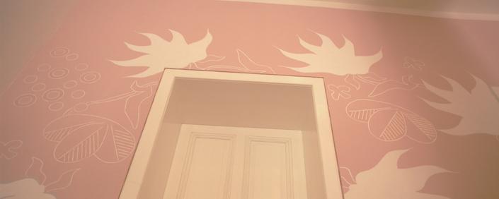 Farbe rosa als behaglichen Farbton für Wohnräume