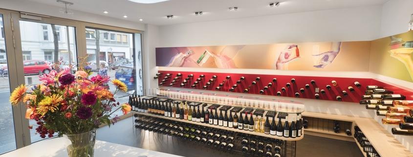 spezielles Shopdesign für eine Weinhandlung